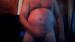 sexy daddy wanking and cummingg