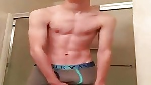 Fat Cock Twink Draining Before Shower