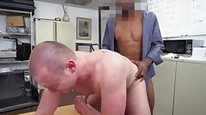 Audition amateur jizzed on by black cock