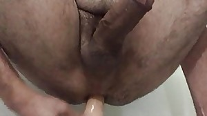 Playing with my fresh Dildo - RealRock 23cm long
