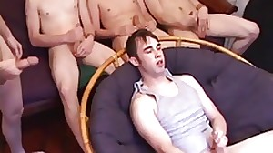 Four Young Dudes Sucking and Fucking Sex Orgy
