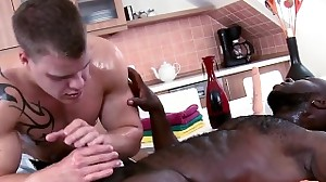 Twink is gratifying boy with wild anal fingering