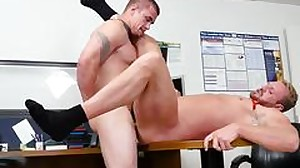 Boys having gay sex in speedos First day at work