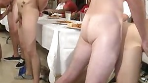 Hazed college twinks assfucked in dining apartment