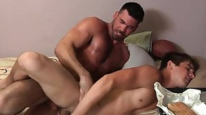 Hairy jock anal sex with cumshot