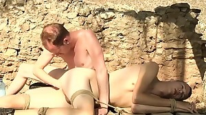 Short haired twink swallows a fat pecker and..