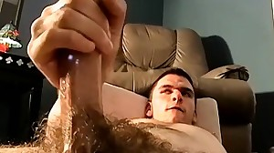 He gets turned on by his hairy mate and starts..
