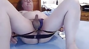 wank glass dildo and jock strap