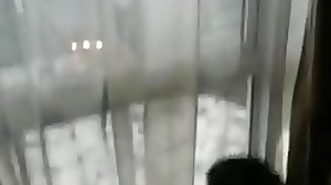 Indian gay sex video at a motel window