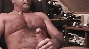 Mature dad stroking on Webcam. More on..