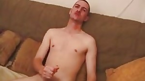 Lean little twink bitch enjoys toying with his..
