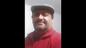 Spanish daddy bear masturbating cumming