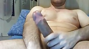 Str8 Guy with Massive Cock jizzes a Pile #16