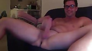 dad showing off his cock (full webcam)
