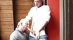 DylanLucas Muscular Coach Pounds Student at..