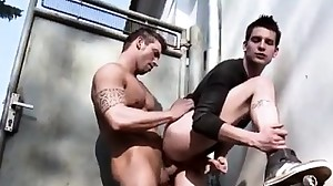 Group men masturbating outdoor and gay twink..