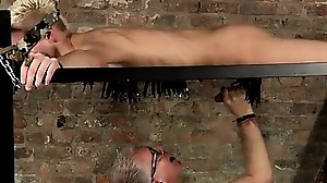 Young boy restrain bondage tube gay Tugging A..