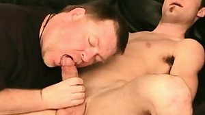 Naughty twink Ben enjoys in a blowjob and then..