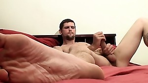 Gorgeous amateur twink Nolan jerks his firm..