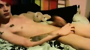 Cute amateur youngster Lewis Romeo having a solo..